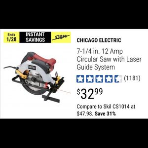 Harbor Freight Tools Circular Saw for Sale in Las Vegas, NV