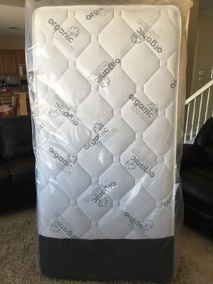 Twin Brand New Organic Pillow Top Mattress! Free Local Delivery! for Sale in Corona, CA