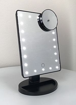 "New, $15 each 11x6.5"" LED Vanity Makeup Mirorr Touch Screen Dimming w/ 10x Magnifying for Sale in Whittier, CA"