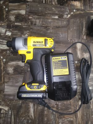Dewalt 12v impact drill one battery and charger for Sale in Garner, NC