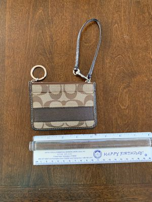Brown Coach Signature Card Holder for Sale in New Haven, CT