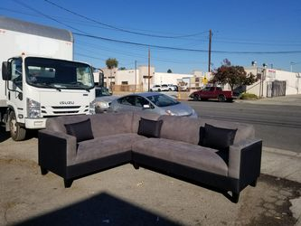 NEW 7X9FT CHARCOAL MICROFIBER SECTIONAL COUCHES for Sale in Monterey Park,  CA