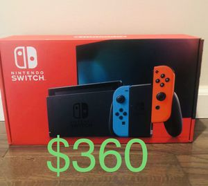 Nintendo Switch V2 Neon Blue and Red Joy Con Same Day Meetup for Sale in Warren, MI