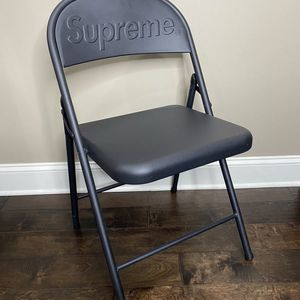 Black Supreme Metal Folding Chair - FW 20 for Sale in Sandy Springs, GA