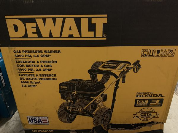 No Offers new DeWalt pressure washer 4000 psi