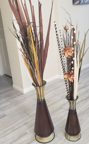 Decorative Metal Vases. for Sale in Henderson, NV