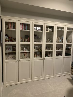 IKEA Glass Storage Unit (Set of 3) for Sale in Seattle, WA