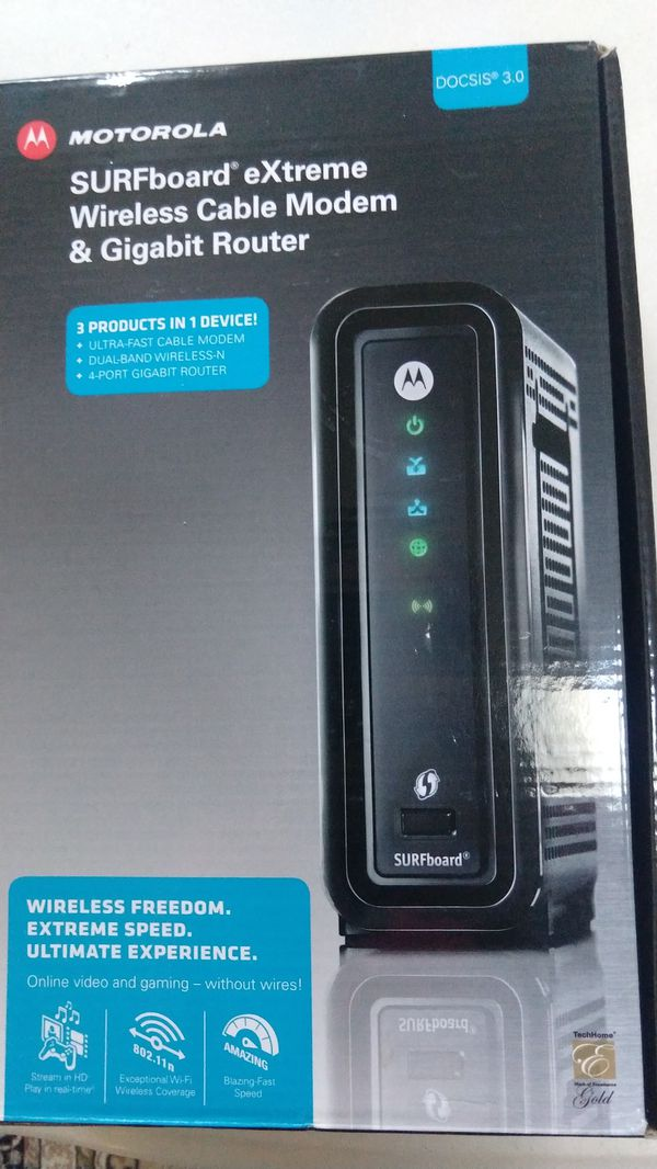 Motorolla Surfboard Docsis 3.0 modem and wifi router