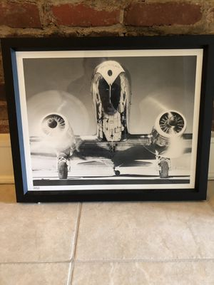 Medium size framed airplane photo wall art for Sale in Washington, DC