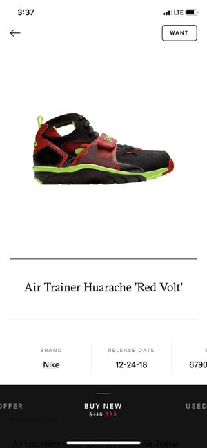 Nike Men's Air Trainer Huarache Black/Volt Red-10.5 for Sale in OH, US