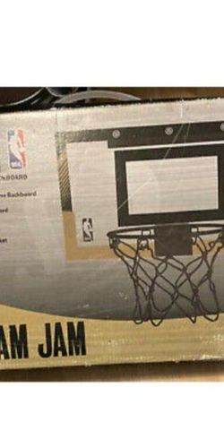 Spalding NBA Slam Jam Over-The-Door Black & Gold Edition Basketball Hoop for Sale in Tacoma,  WA