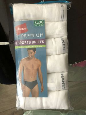 Brand new Sports briefs XL extra large Hanes 6 pack white for Sale in Davie, FL