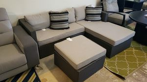 Brand New Patio Furniture Sectional with Ottoman tax included and free delivery for Sale in Hayward, CA