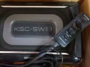 Mini Subwoofer Kenwood to put under the seat with bass Volume control Open Box NEW. for Sale in Orlando, FL