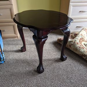 Vintage Claw Foot Wooden Table Clean Dark Finish for Sale in Concord, CA