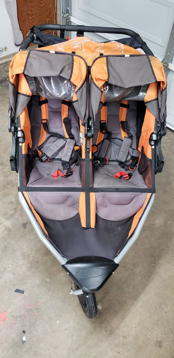 Double Bob Stroller with Attachments