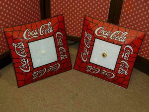 Glass - Coca Cola Light Fixture (2 Available) for Sale in Carrollton, VA