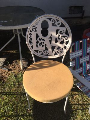 Antique Patio Chairs - Love and Peace for Sale in Santa Monica, CA