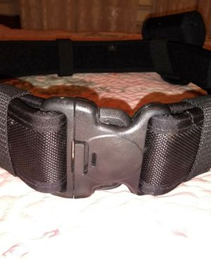 Tactical Belt with flash light holder, Mace pouch and Handcuff pouch for Sale in Jacksonville, FL
