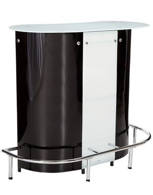 Like new bar set with 2 black bar stools for Sale in Richmond, VA