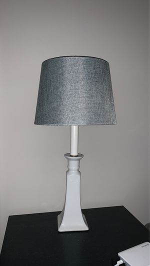 White lamp with grey shade for Sale in Washington, DC