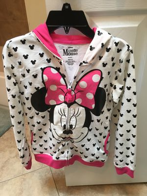 Girls Minnie Mouse Zipped Hoodie Size 8/10 for Sale in Sykesville, MD