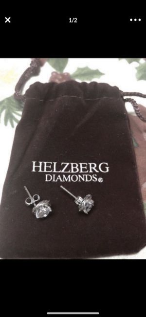 Cubic zirconia and sterling silver earrings-brand new $20 for Sale in Peoria, AZ