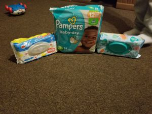 One pamper with 2 wipes just 8 dollars for Sale in Waterbury, CT
