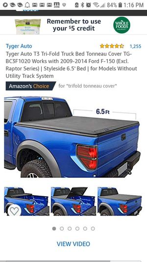 NEW TYGER TG-BC3F1020 TRI FOLD TONNEAU COVER 09-14 FORD F150 6.5' BED MAKE ME AN OFFER OBO for Sale in Phoenix, AZ