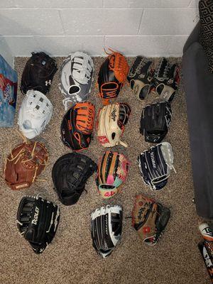 Baseball softball gloves for Sale in Roselle, NJ