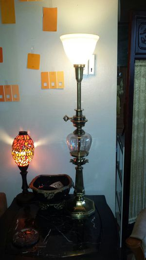 Antique stiffel lamp brass with german crystal for Sale in Oxon Hill, MD