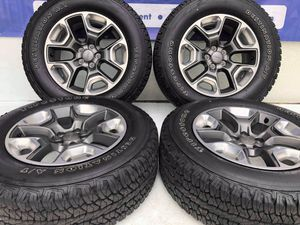 """17"""" Jeep Compass wheels and tires like new 245-65-R17 Firestone take off Ask for jennifer for Sale in Macomb, MI"""