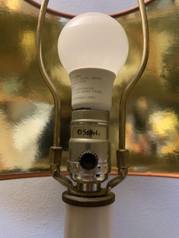 Vintage Brass Stiffel Table Lamp