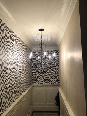 Black Wrought Iron Chandelier Six Lights for Sale in Lake Oswego, OR