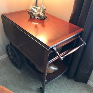 Antique Mahogany Rolling Tea/Dessert Cart for Sale in Ridgefield, WA