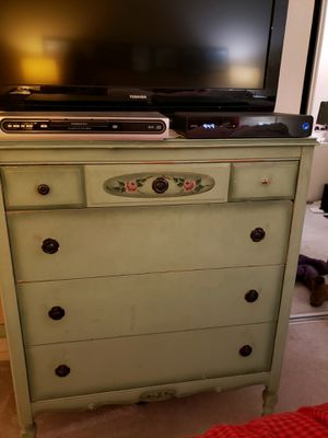 Antique - beautiful mint green solid wood bedroom set for Sale in Novato, CA