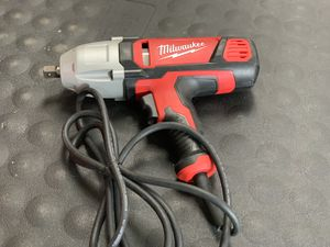 MILWAUKEE CORDED ELECTRIC 1/2in IMPACT WRENCH for Sale in Moreno Valley, CA