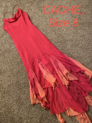 CACHE, Hot Pink Chiffon Asymmetrical Dress, Size 8 for Sale in Phoenix, AZ
