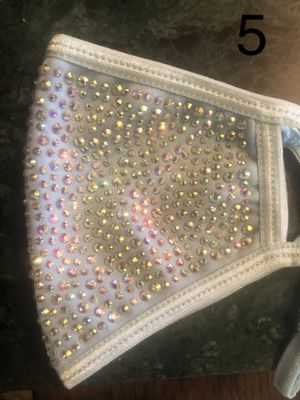 Face mask beautiful diamond , black , pink , red, gray,gold for Sale in Dallas, TX