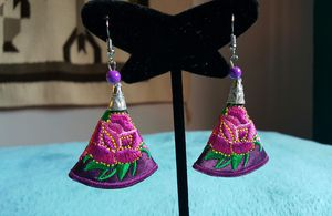 Mexican Embroidered Earrings for Sale in Houston, TX