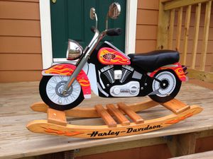 Harley Davidson Motorcycle Kids Rocking Chair Toy Bike for Sale in Roswell, GA