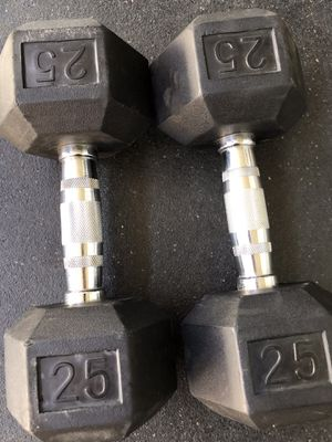 Pair of 25lb dumbbells for Sale in Loma Linda, CA