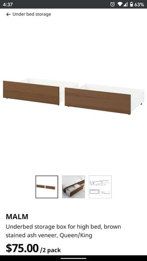 Ikea Malm under bed storage drawers for Sale in Mercer Island, WA