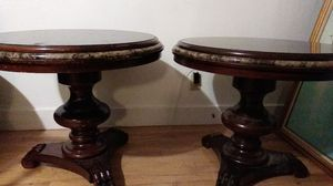 Antique mahogany and marble end tables for Sale in Portland, OR