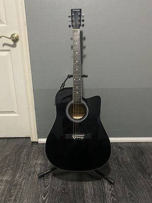 black huntington electric acoustic guitar for Sale in Bell Gardens, CA