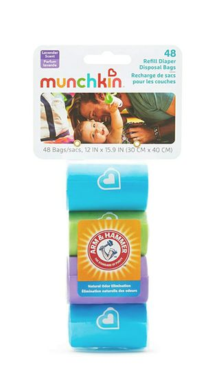 Munchkin Arm & Hammer Diaper Bag Refills, 48 Count for Sale in Riverside, CA