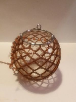 GOLD BEAD HANGING CANDLE VOTIVE for Sale in Wilmington, DE