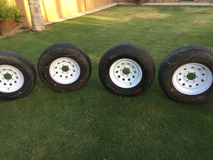 16 inch trailer tires with rims $160 for Sale in Bakersfield, CA