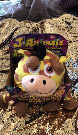 JANIMALS WEARABLE STUFFED ANIMALS AS S EEN ON TV for Sale in Pleasant Hill, IA