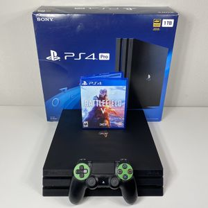 PLAYSTATION 4 PS4 PRO 1TB ONE GAME ONE WIRELESS CONTROLLER USED SONY for Sale in Lewisville, TX